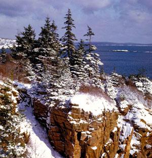 Winter Cliffs at Acadia National Park NPS Photo