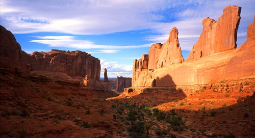 Park Avenue Arches National Park NPS photo by Neal Herbert