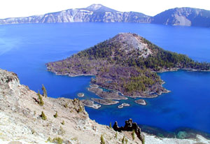Wizard Island in Summer at Crater Lake National Park Picture by NPS