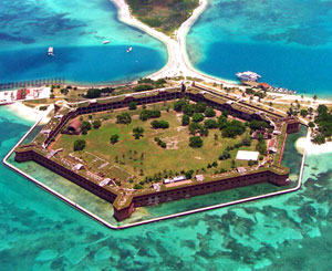 Aerial view of Fort Jefferson on Garden Key at Dry Tortugas National Park Picture by NPS