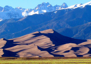 Great Sand Dunes National Park with Crestone Peaks in background Picture by NPS