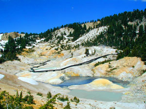 Bumpass Hell Trail on the way to Cold Boiling Lake at Lassen Volcanic National Park Picture by Russell Virgilio NPS.gov